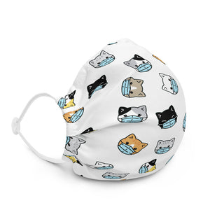 Kitten Pattern Premium face mask