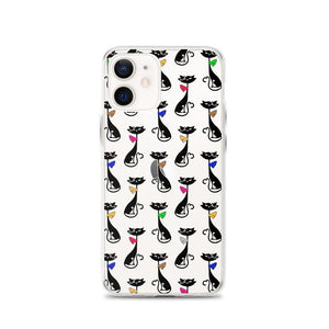 Black Cat Pattern iPhone Case