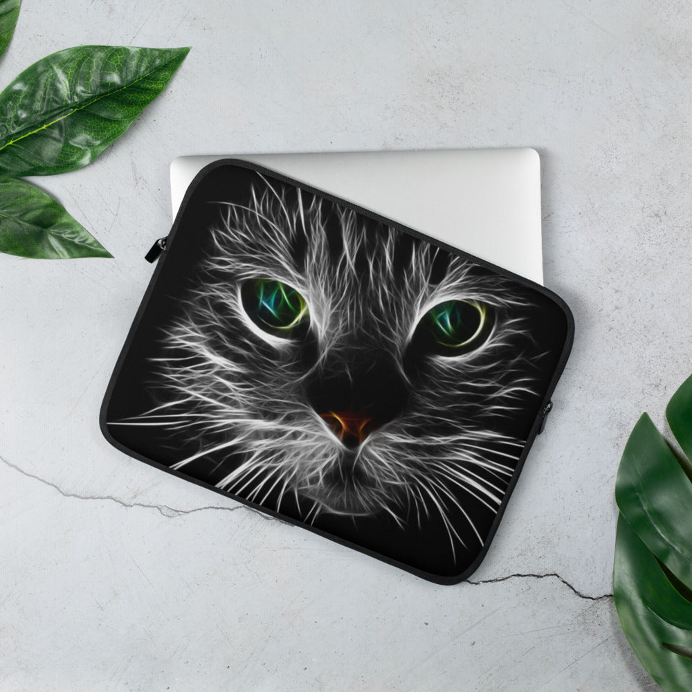 Lightning Cat Laptop Sleeve