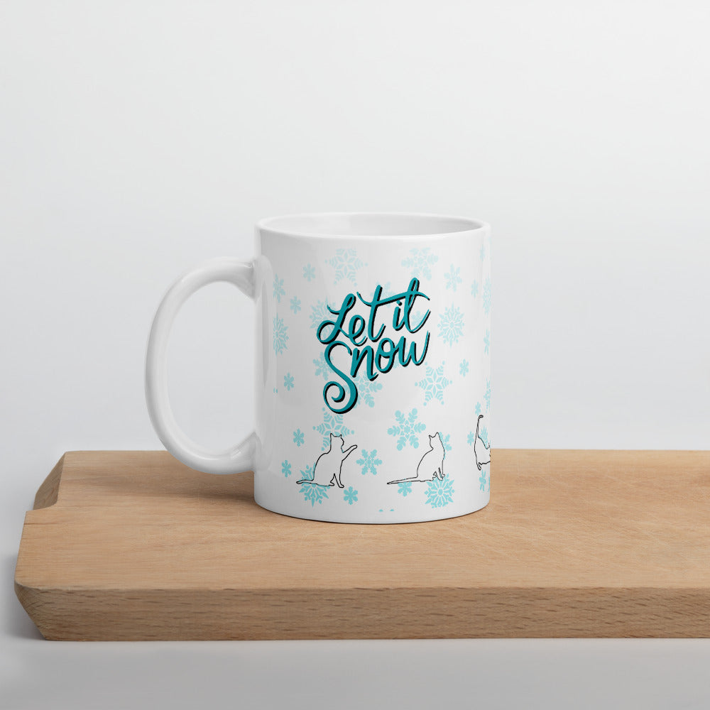 Let It Snow Mug for Cat Lovers