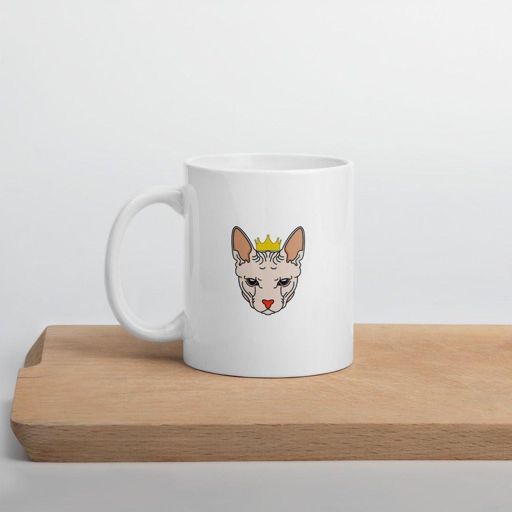Crowned Sphynx Cat Mug