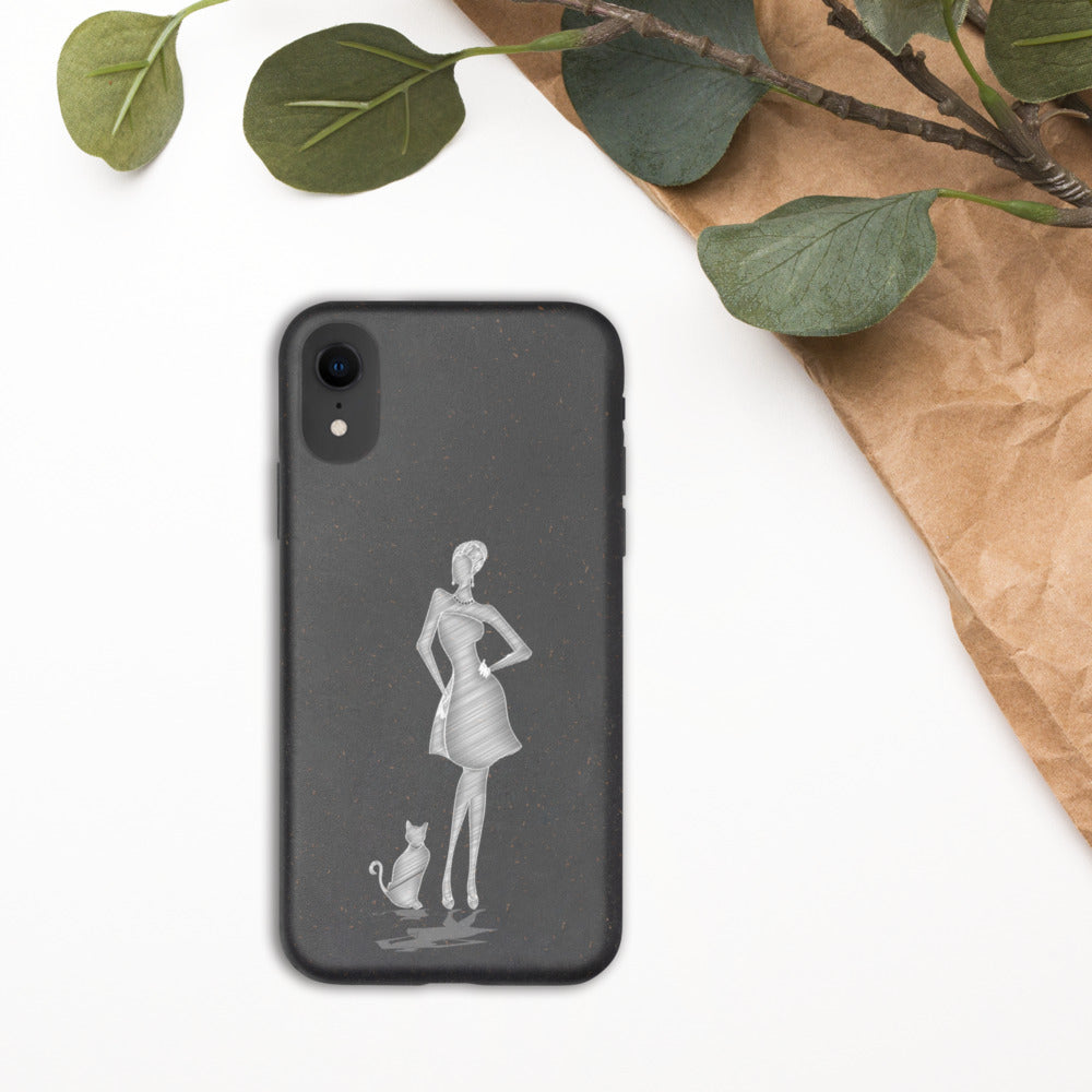 Biodegradable Cat Lady Phone Case