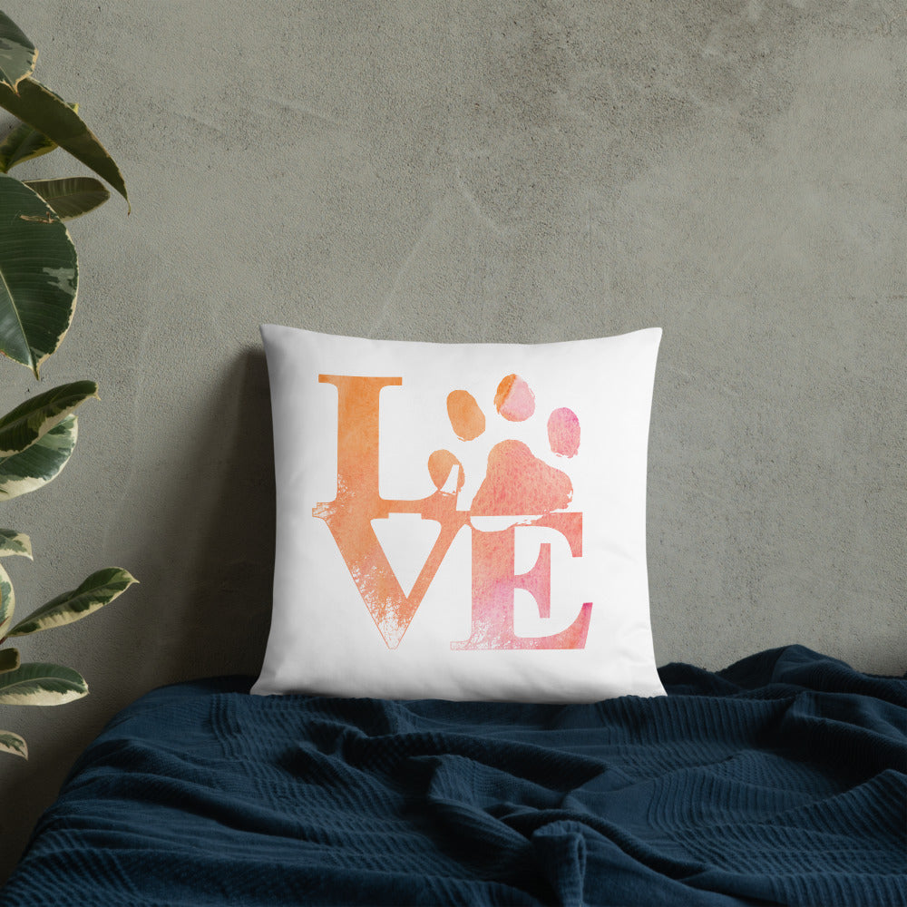 Colorful Love Cat Paw Pillow