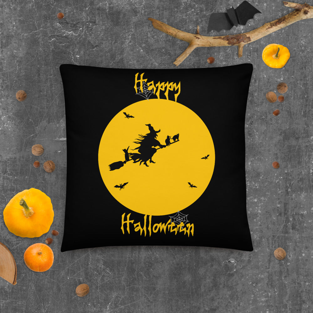 Halloween Witch Pillow for Cat Lovers