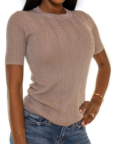 Knit Metallic Top