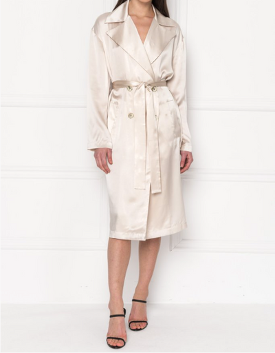 Lamarque Antique White Trench Coat
