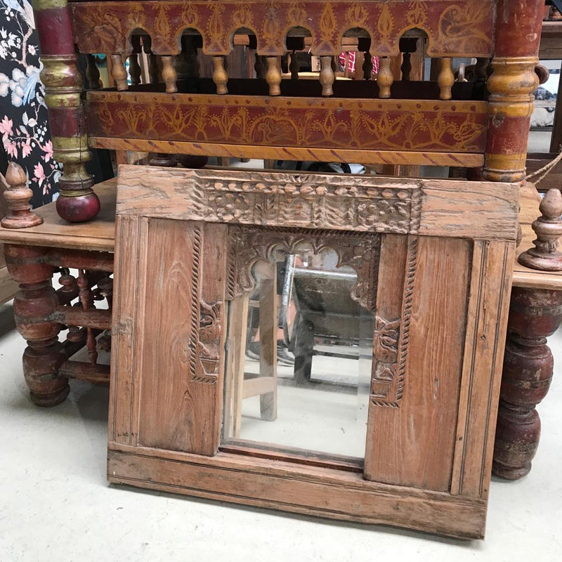 Rustic carved mirror