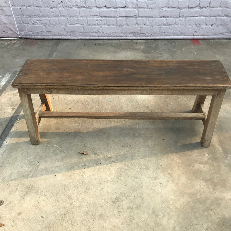 Rustic bench with wood patina (W122cm | H45cm)