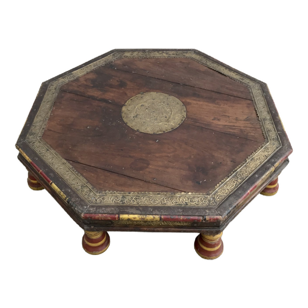ANTIQUE INDIAN LOW BAJOT COFFEE TABLE (W72CM | H17CM)