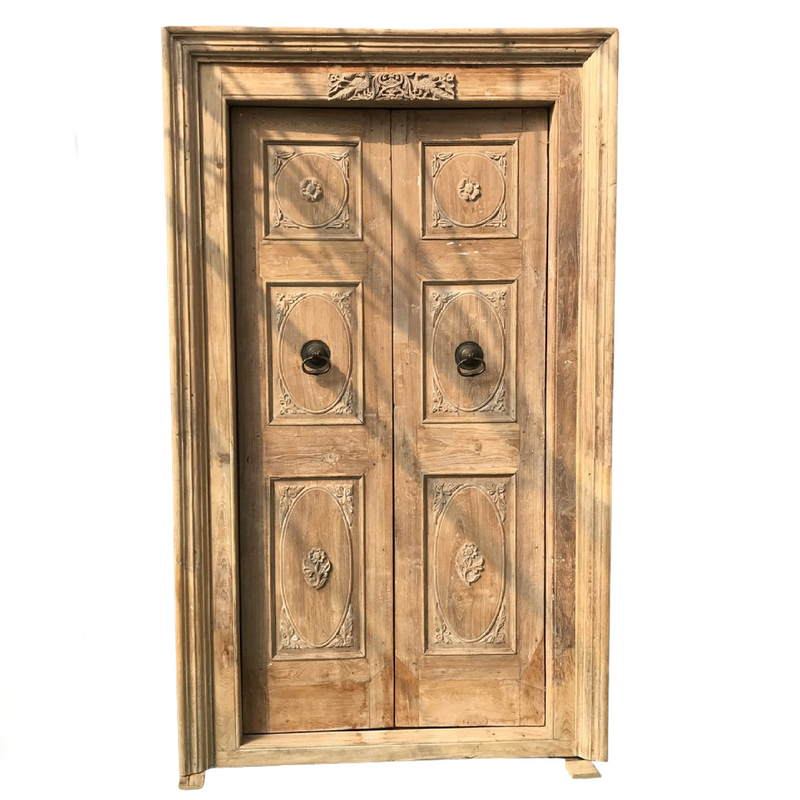 Vintage Teak Anglo-Indian door (H228cm | W119cm)