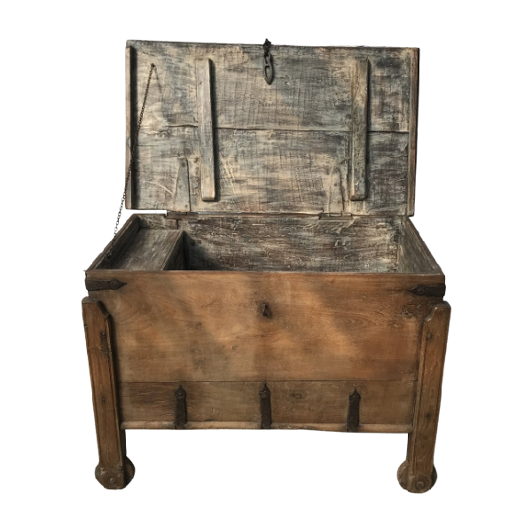 ANTIQUE INDIAN GOA MERCHANT'S STORAGE CHEST (H80 | W109)