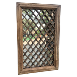 Antique Indian Jali Window Mirror (H110cm | W70cm)