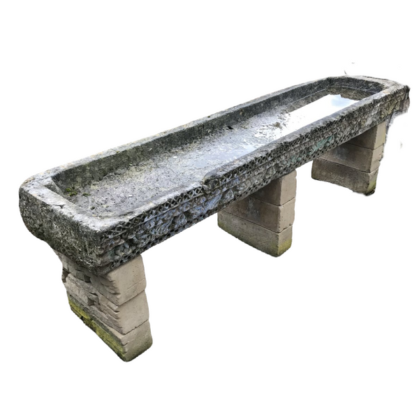 Antique Indian Stone Water Table Trough