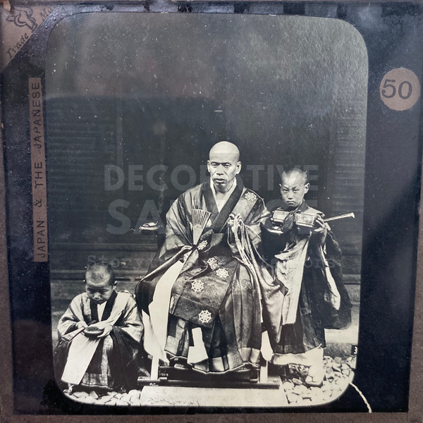 Lantern Slide | Buddhist or Chief Priest, Japan (ca 1890s)