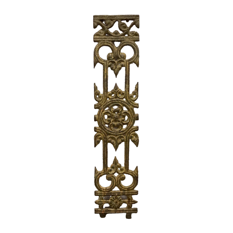 Antique Cast iron Balcony Grill Baluster | H85cm W18.5cm