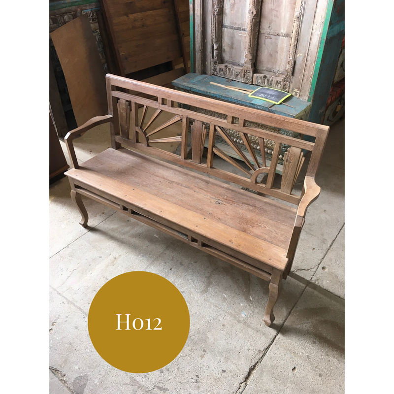 DECORATIVE VINTAGE INDIAN BENCH (W139CM | H91CM)