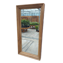 Rustic wood mirror from India