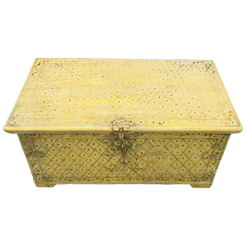 Vintage hand painted chest/ box | 08459