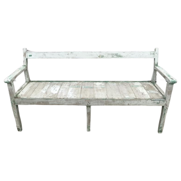 VINTAGE WHITEWASHED BENCH (W155CM | H78CM)