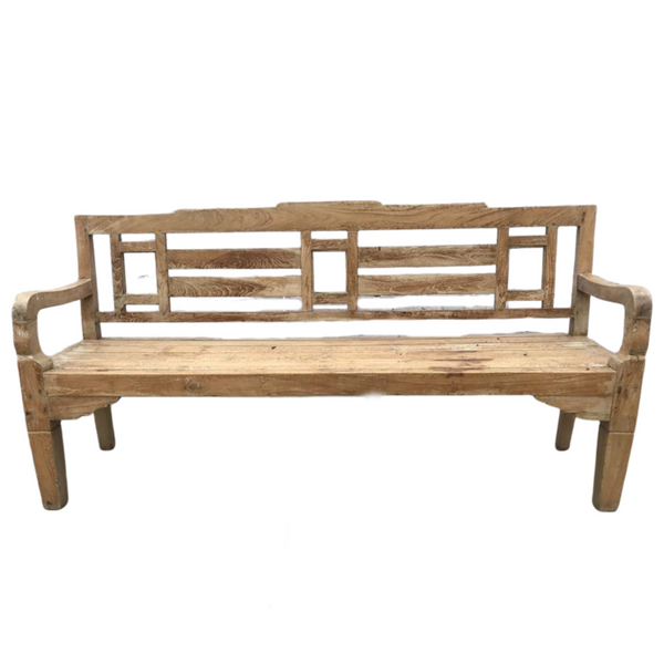 VINTAGE INDIAN TEAK BENCH (W180CM | H90CM)
