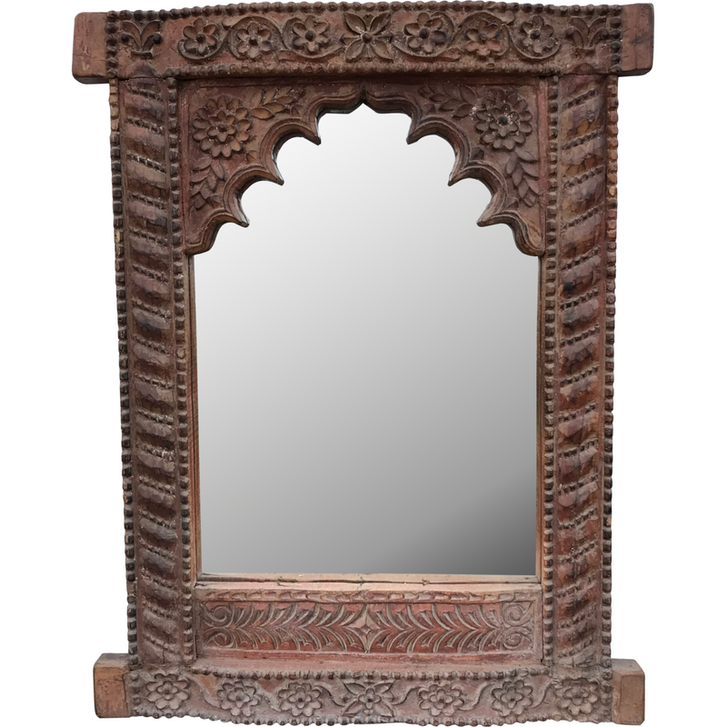 VINTAGE DEEP CARVED MIHRAB ARCH WALL MIRROR | 45577
