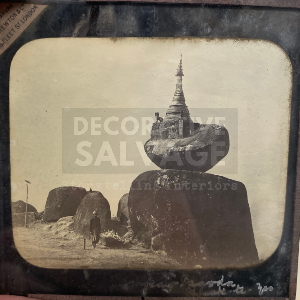 Lantern Slide | Buddhist Shrine in the Kelasa Hills, Burma (ca 1890s)