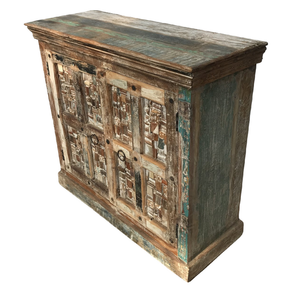 RECLAIMED WOOD SIDE CABINET | 2DR