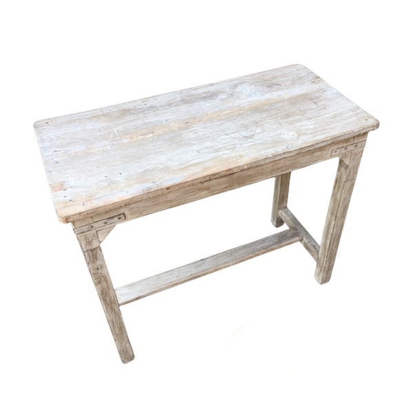 Vintage rustic painted kitchen side table