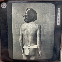 Lantern Slide | Tattooed Japanese Betto, Japan (ca 1890s)