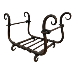 HAND CRAFTED WROUGHT IRON FIRE GRATE (W55CM | H33CM)