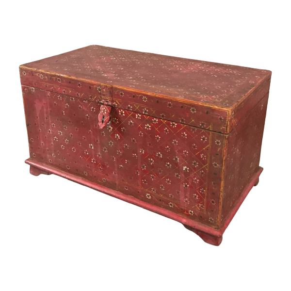 HAND PAINTED INDIAN CHEST