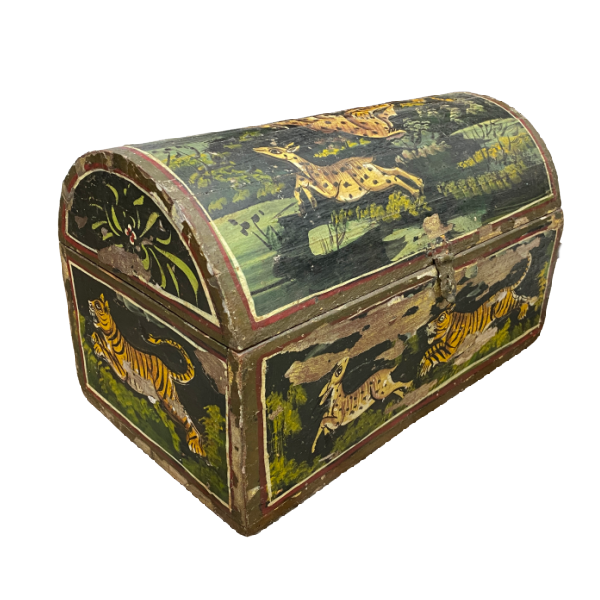 HAND PAINTED DOWRY BOX INDIA | DESK & JEWELLERY BOX