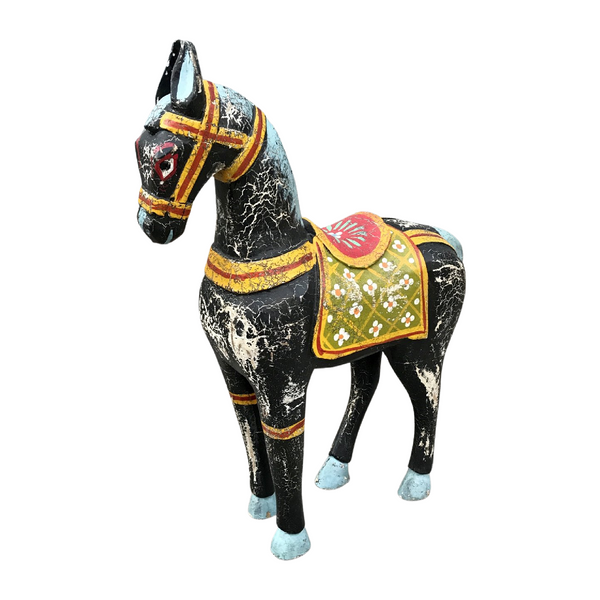 HAND PAINTED INDIAN HORSE STATUE | 2 sizes