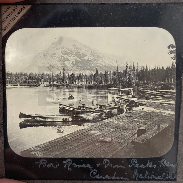 Lantern Slide | Bow River & Twin Peaks Canadian National Park (ca 1890s)