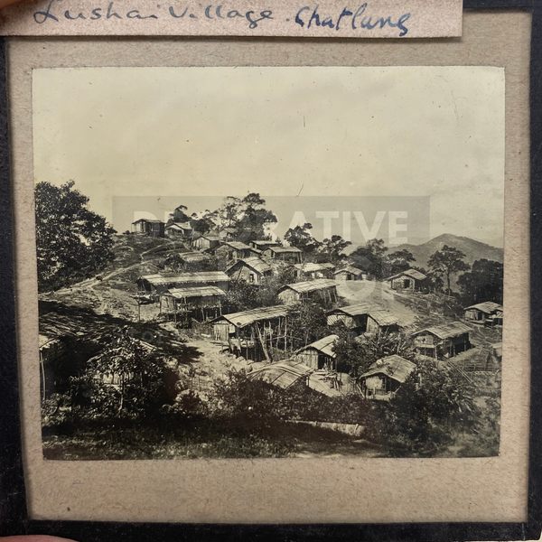 Lantern Slide | Lushai Village, India (ca 1890s)