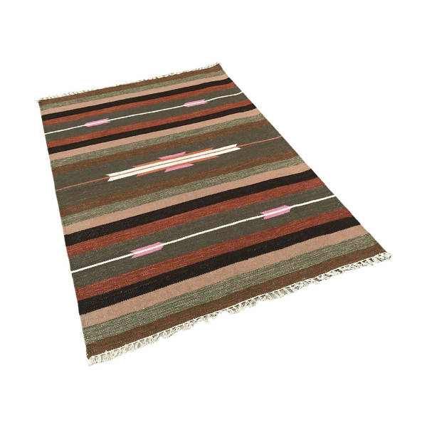 Indian Hand Woven & Dyed Rug (180cm x 120cm)