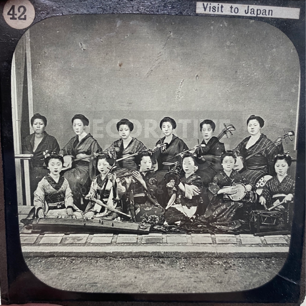 Lantern Slide | Ladies Band, Japan (ca 1890s)