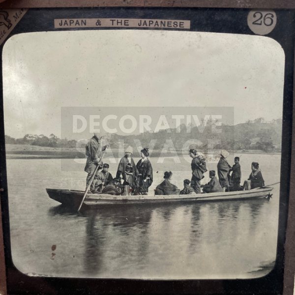 Lantern Slide | Country Ferry, Japan (ca 1890s)
