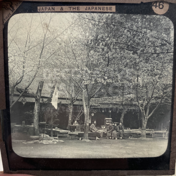 Lantern Slide | Tea House at Oyeno Park, Japan (ca 1890s)