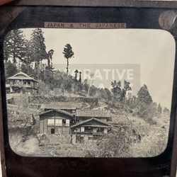 Lantern Slide | Village of Myogi, Japan (ca 1890s)