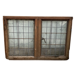 VINTAGE DOUBLE LEADED GLASS WINDOW (H102cm | W150cm)