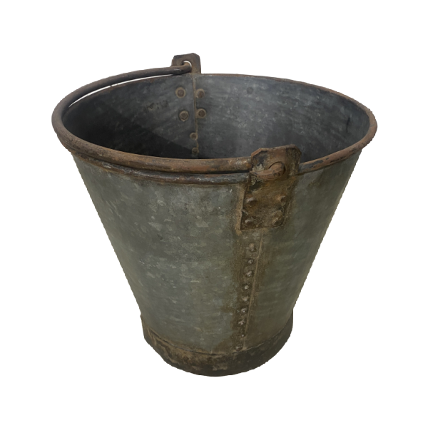 MEDIUM GALVANISED BUCKET | Ø30CM H28CM