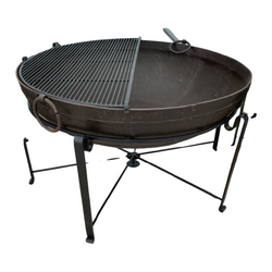 Ø127CM D40CM • Original Indian fire bowl, stand & grill