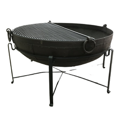 Ø143CM D45CM • Original Indian fire bowl, stand & grill