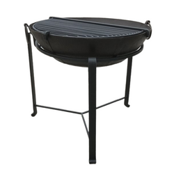Ø69CM D22CM • Original Indian fire bowl, stand & grill