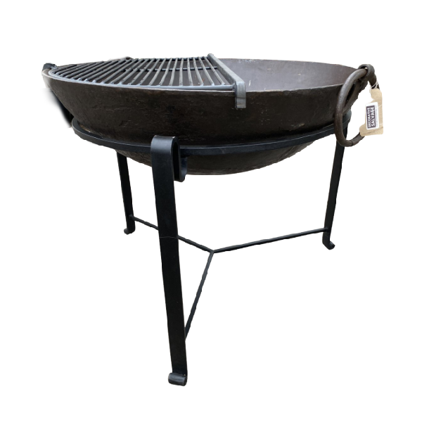 Ø83CM D26CM • Original Indian fire bowl, stand & grill