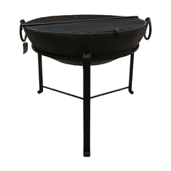 Ø86CM D28CM • Original Indian fire bowl, stand & grill