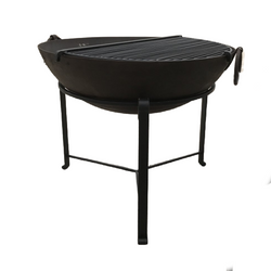 Ø90CM D31CM • Original Indian fire bowl, stand & grill