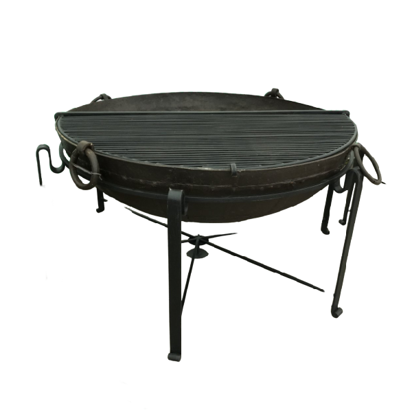 Ø121CM D36CM • Original Indian fire bowl, stand & grill