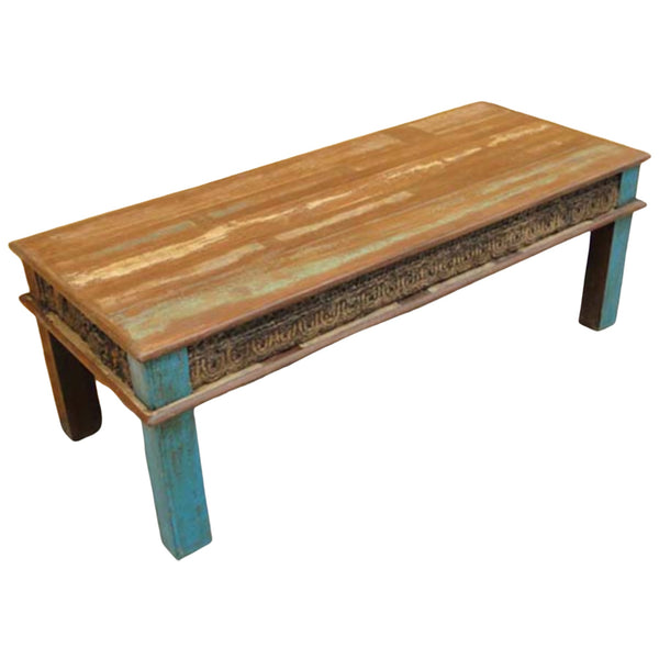 Reclaimed Indian teak wood coffee table  (W140cm | H49cm)